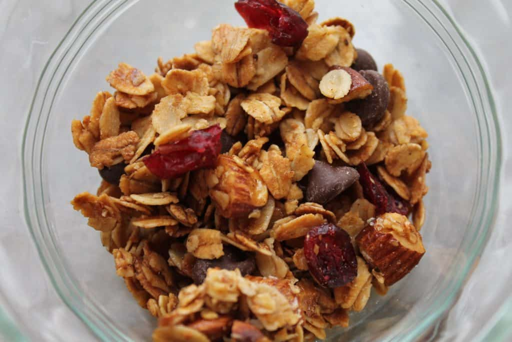 Easy Chocolate Cranberry Granola