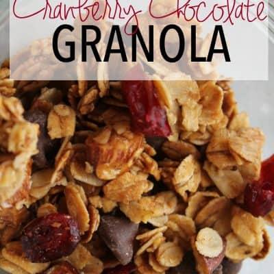 How to Make Easy Chocolate Cranberry Granola