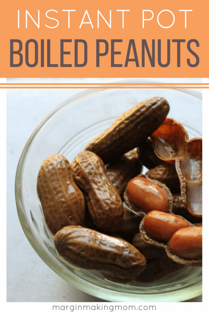 Instant Pot boiled peanuts are a salty southern snack made easy with the pressure cooker!  Check out how simple they are by clicking through!