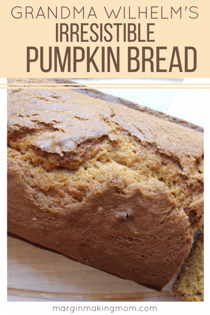 I adore the simplicity of this classic pumpkin bread. Grandma Wilhelm's pumpkin bread is the perfect balance of sweet and spice and is an easy, no-frills way to savor the taste of fall.