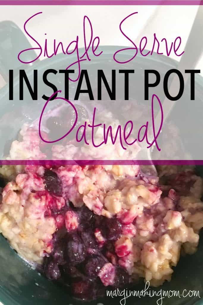 This single serve oatmeal in the instant pot pressure cooker is a quick and easy breakfast! I love having frugal and healthy breakfast options that also taste delicious!