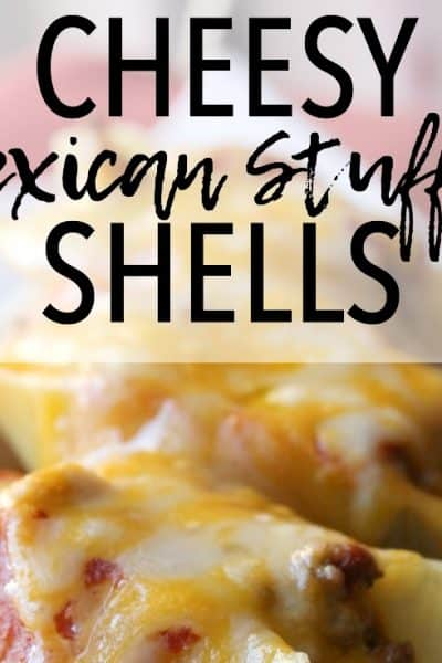 These Cheesy Mexican Stuffed Shells are an easy but delicious meal and a spin-off of Italian stuffed shells. Make these for Taco Tuesday! Mexican Stuffed Shells | Easy Mexican Recipes | Taco Tuesday | Quick meals