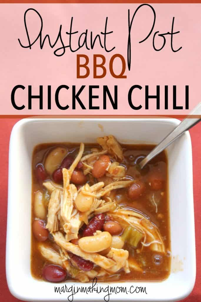 Instant Pot BBQ Chicken is a quick and easy hearty meal! Frugal meals that are delicious are some of my favorites! Instant Pot | Pressure Cooker | Chicken Chili | Frugal Meals