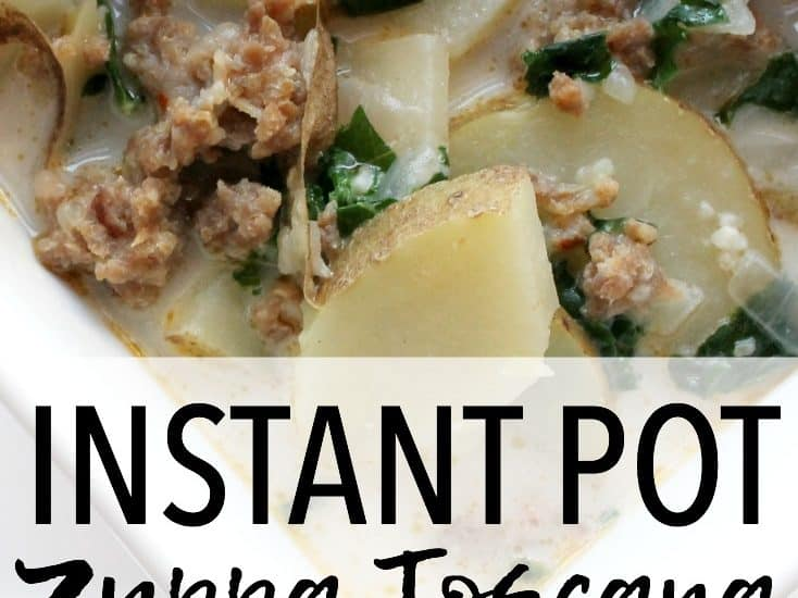 This delicious Zuppa Toscana soup is made in the Instant Pot pressure cooker, making it a quick and easy recipe that tastes much like Olive Garden's version! Instant Pot Recipes   Pressure Cooker Recipes   Zuppa Toscana Recipes