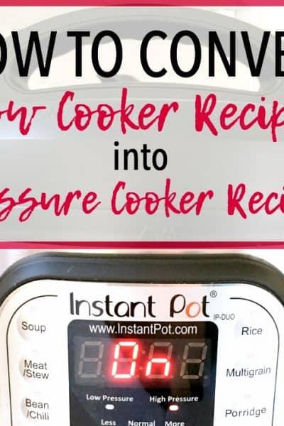 Pressure Cooker Recipe Conversion   Instant Pot Recipe Conversion