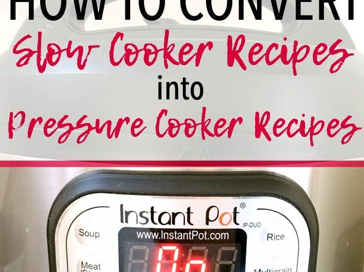 Pressure Cooker Recipe Conversion | Instant Pot Recipe Conversion