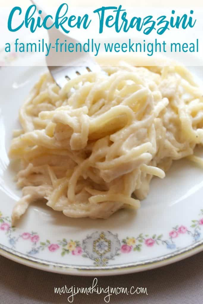 Browned Butter Chicken Tetrazzini is an easy meal idea that your family will love! It's a perfect weeknight meal because it comes together so quickly. Weeknight meal ideas | Frugal meal ideas | Easy meals
