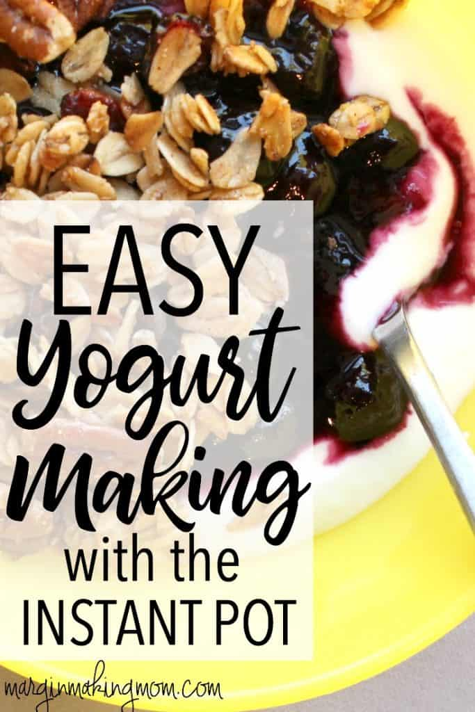 Yogurt making is made simple with the use of the Instant Pot pressure cooker! The Instant Pot makes it easy to maintain the perfect temperature for incubating the yogurt culture. Click through to learn how! Instant Pot Yogurt | Instant Pot Recipes | Yogurt Making