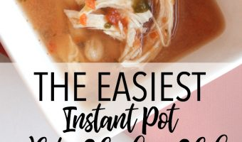 Easy 4 Ingredient White Chicken Chili in the Pressure Cooker