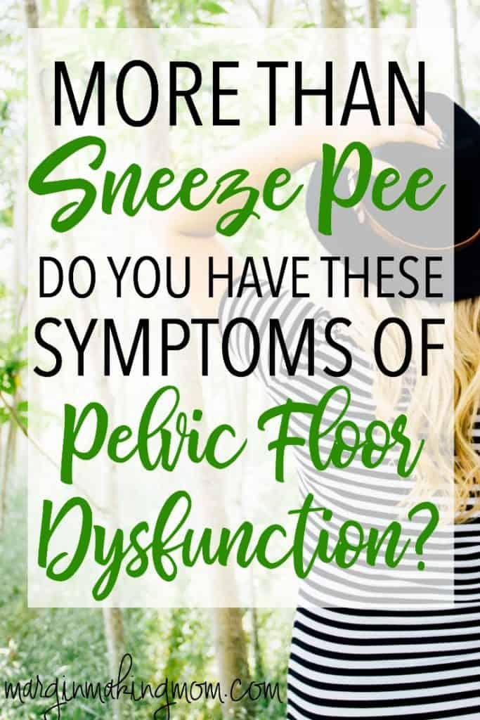 Pelvic Floor Dysfunction is one of the most common conditions after pregnancy. Learn about the condition, the symptoms, and options to treat prolapse and other pelvic floor dysfunctions! Click through to read more.