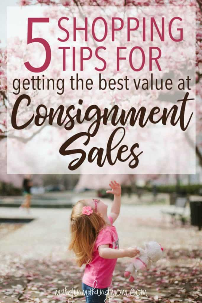 These 5 consignment sale shopping tips can help you get the most bang for your buck! Click through to learn how! Consignment Shopping | How to Save Money at Consignment Sales | How to get the best deals at consignment sales