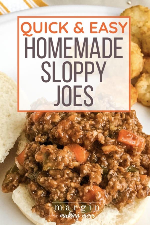 sloppy joe mix on a bun