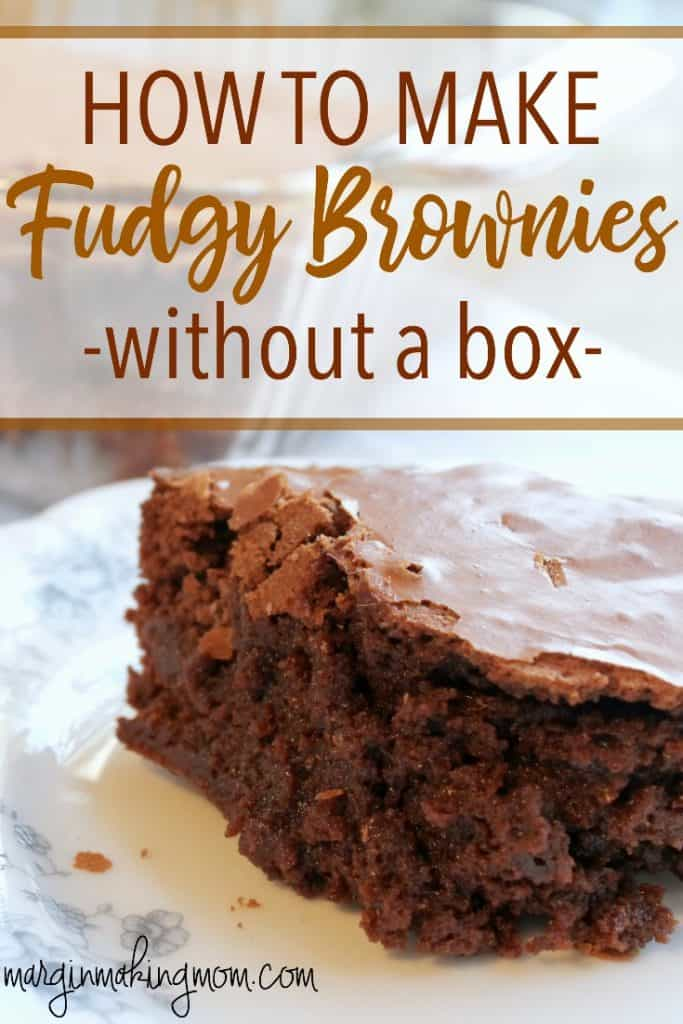 Many homemade brownie recipes are just a big let-down. But these are the best brownies from scratch! They really are better than the box! Best brownie recipe | Brownies from scratch | Homemade fudgy brownies