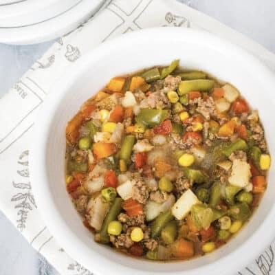 Easy Instant Pot Hamburger Soup