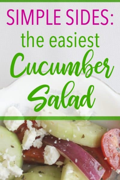 This deliciously simple cucumber salad is a wonderful way to utilize summer's bounty of produce! It's a frugal and easy side item that is sure to please. Click through to learn how to make it!