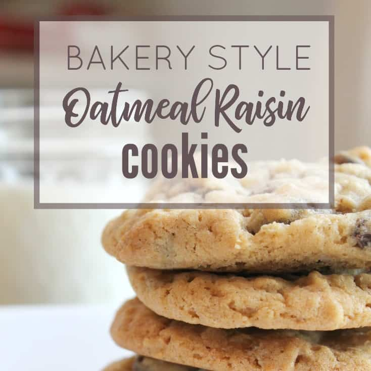 How to Make Bakery Style Oatmeal Raisin Cookies - Margin ...