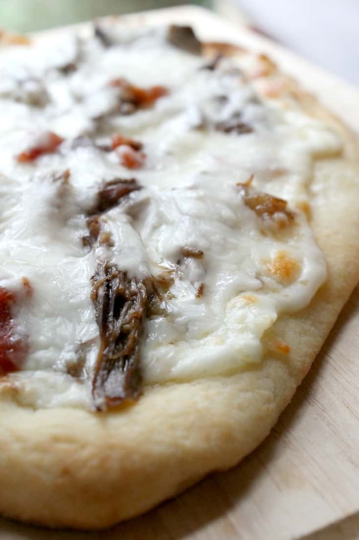 How to Make Spicy Beef Flatbread Pizzas with the Pressure Cooker