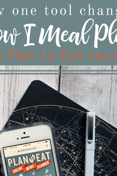 How One Tool Changed the Way I've Meal Planned for Years | Plan to Eat Review