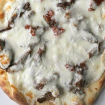 Spicy Beef Flatbread Pizzas with the Pressure Cooker