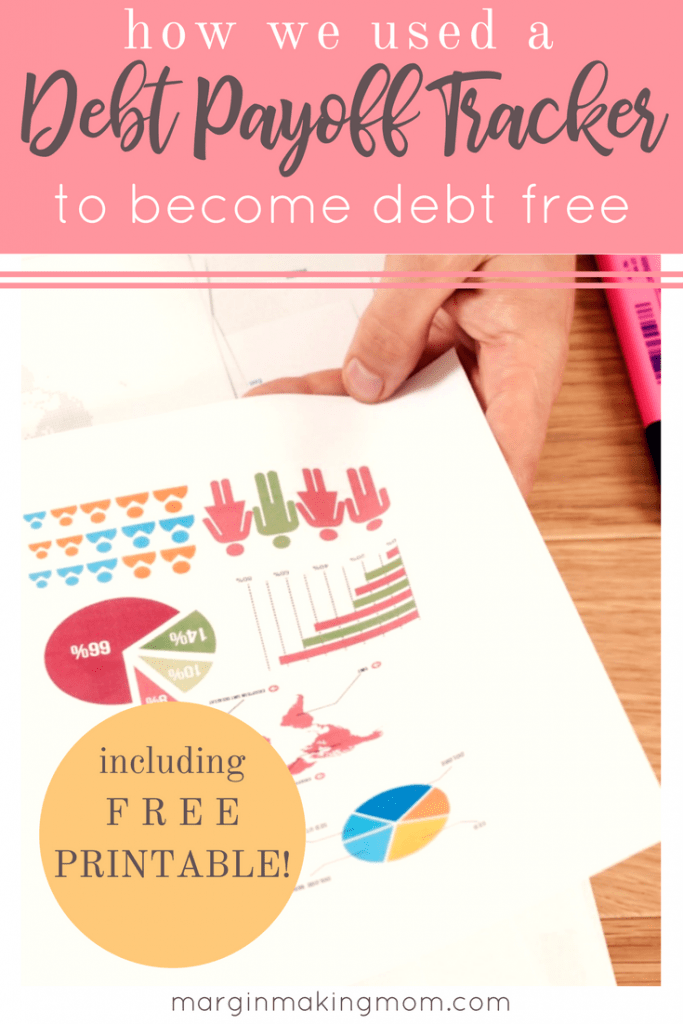 A debt payoff tracker helped us to stay motivated and not lose sight of our goal! Tracking progress is hugely beneficial when working toward a goal. Click through to learn more and to get your own printable debt payoff tracker!