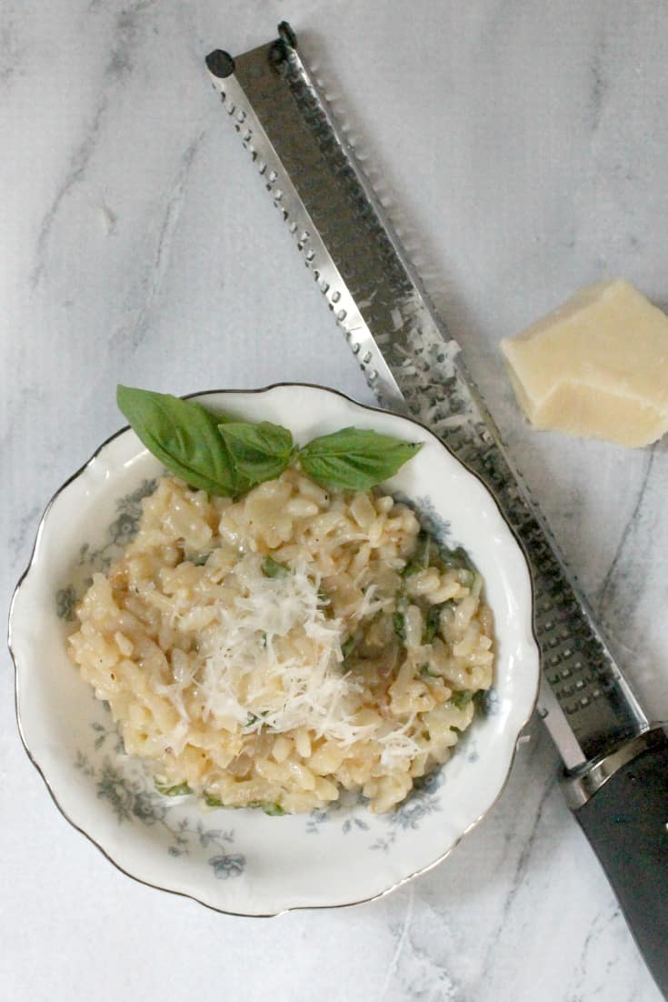 Parmesan Basil Risotto in the Instant Pot