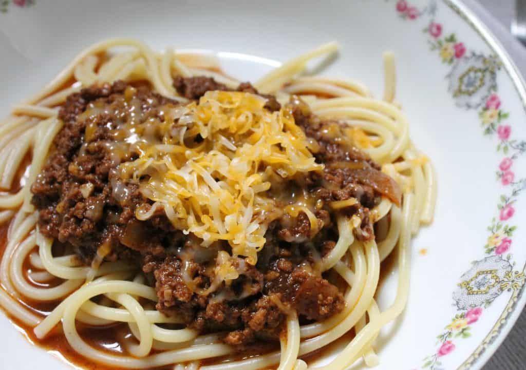 Skyline Chili in the pressure cooker is an easy way to enjoy the Cincinnati classic from anywhere! It's a simple and quick meal, perfect for a weeknight!