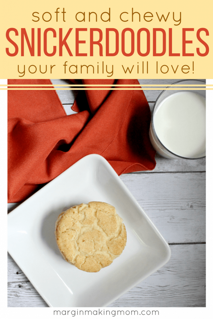 Your family will love these soft and chewy snickerdoodles! Simple sweetness paired with subtle cinnamon makes these the perfect treat. Snickerdoodle recipe | How to make snickerdoodles | holiday cookie recipes | the best snickerdoodles