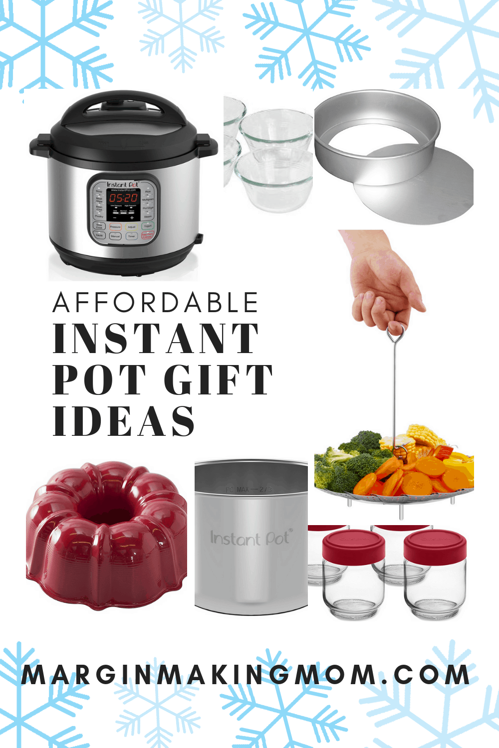 collage of Instant Pot gift ideas