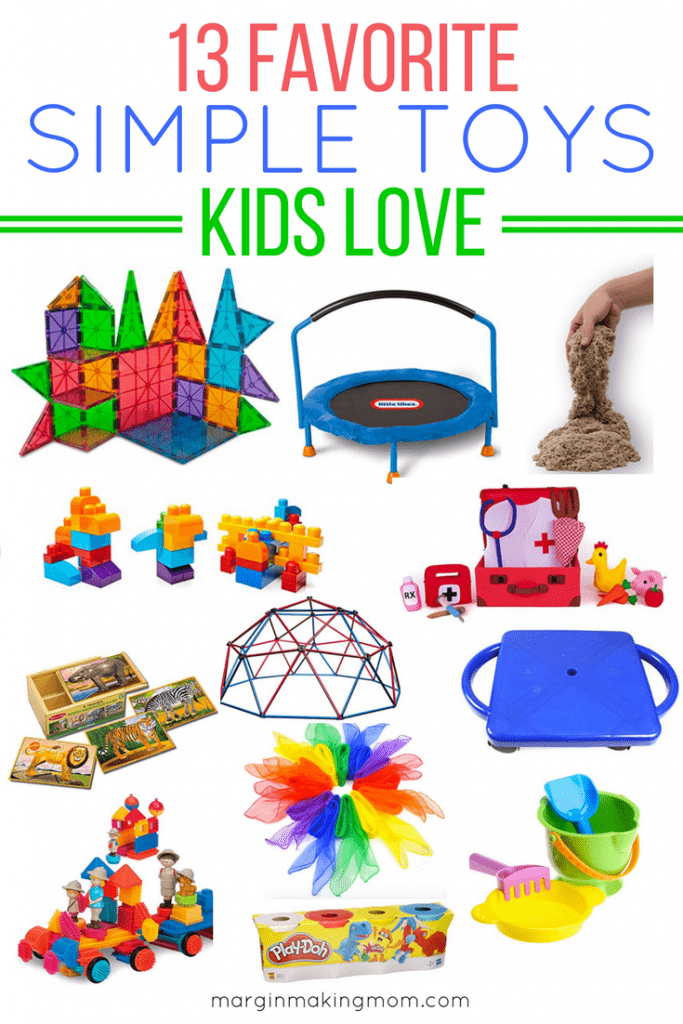 Open-ended toys inspire more creative play and often have more staying power than complicated toys. These favorite simple toys for kids are sure to be hits! Simple Toys for Kids | Montessori Toys | Open-Ended Toys for Kids | Gender Neutral Toys
