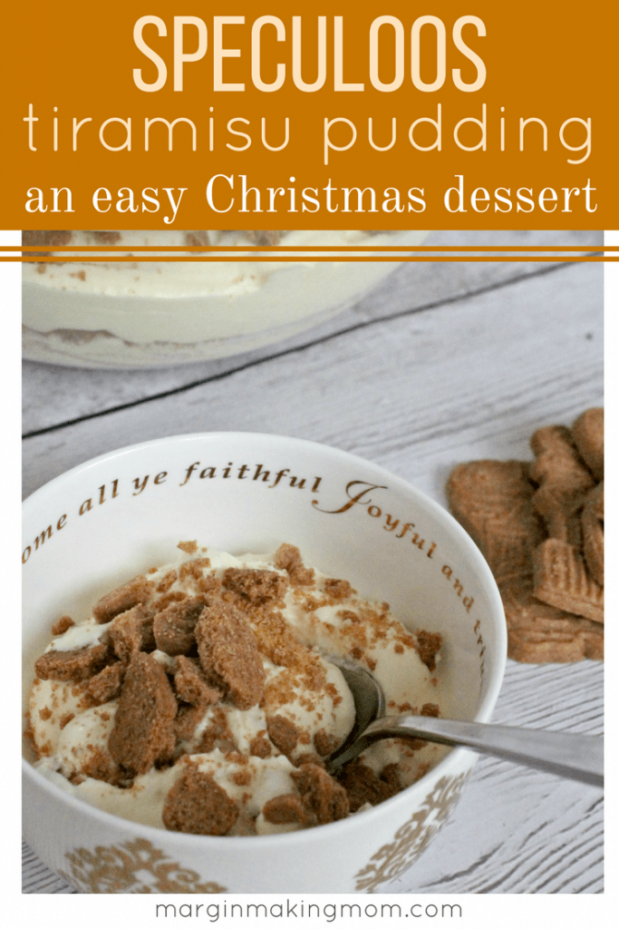 This Speculoos Tiramisu Pudding is a light and airy, quick and easy dessert of crushed cookies paired with fluffy cream. It's perfect for the holidays! Speculoos Recipe | Biscoff Recipe | Speculoos Tiramisu | Easy Christmas Dessert | Christmas Dessert for a Crowd