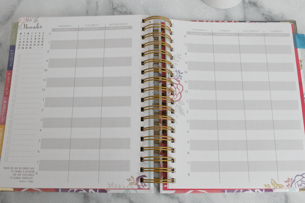 The Brilliant Life Planner has weekly time block sheets that help you organize your day in a realistic way.