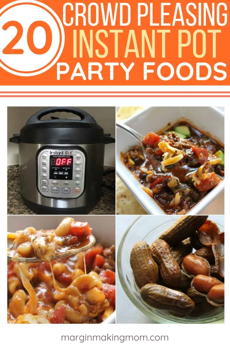 compilation of Instant Pot Party Foods for the Super Bowl