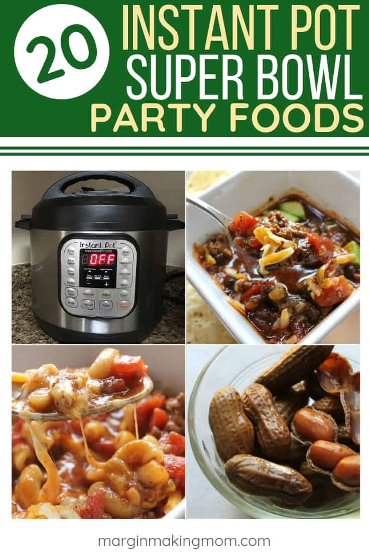 compilation of photos of Instant Pot Party Foods for the Super Bowl