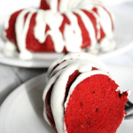 Red velvet bundt cake made in the Instant Pot