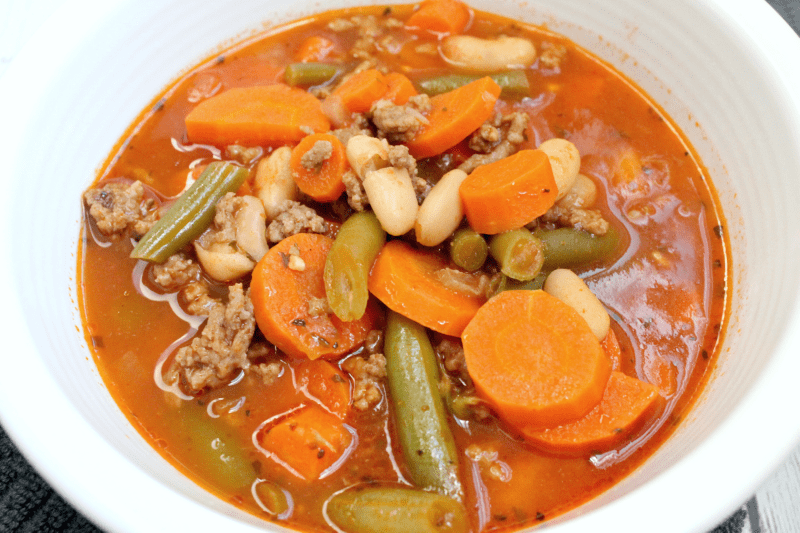 Making Instant Pot Italian vegetable beef soup is a great way to get a quick but delicious meal on the table in no time!