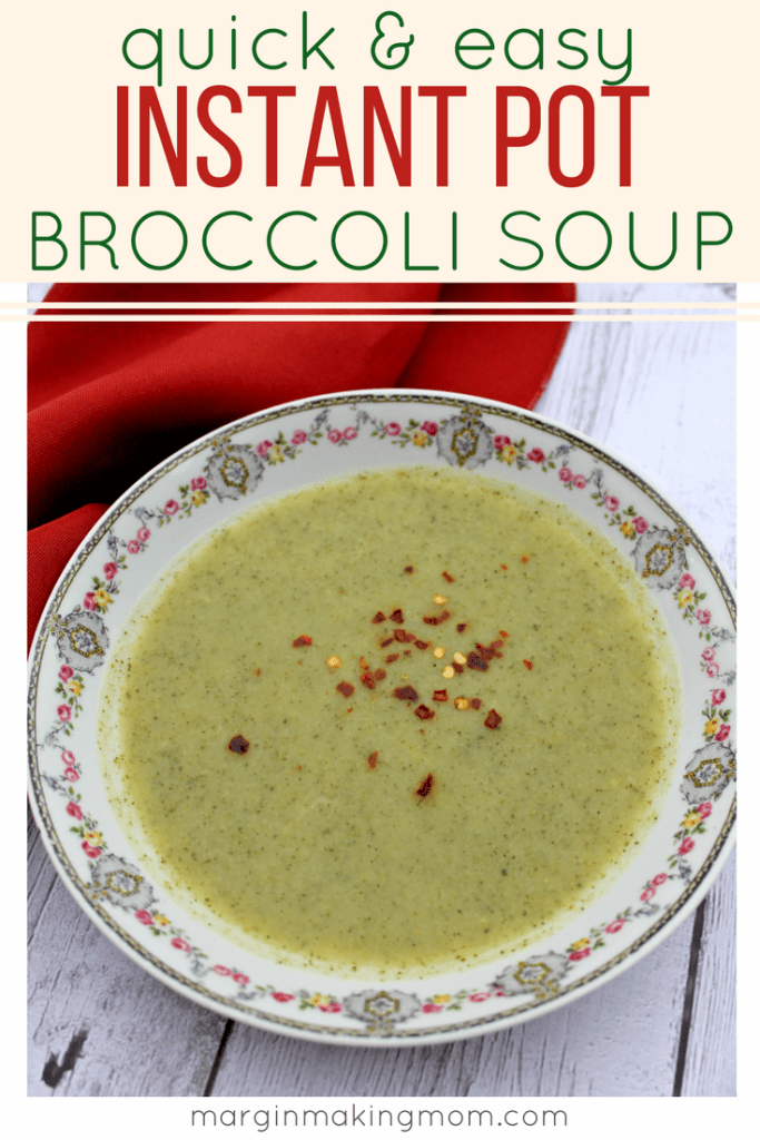 By making broccoli soup in the Instant Pot, you can have a flavorful comfort food without any of the guilt (and in a fraction of the time!). This delicious pressure cooker soup is Whole30 friendly and a healthy meal that is ready in no time! Instant Pot Broccoli Soup | Broccoli Soup in the Pressure Cooker | Easy Broccoli Soup Recipe