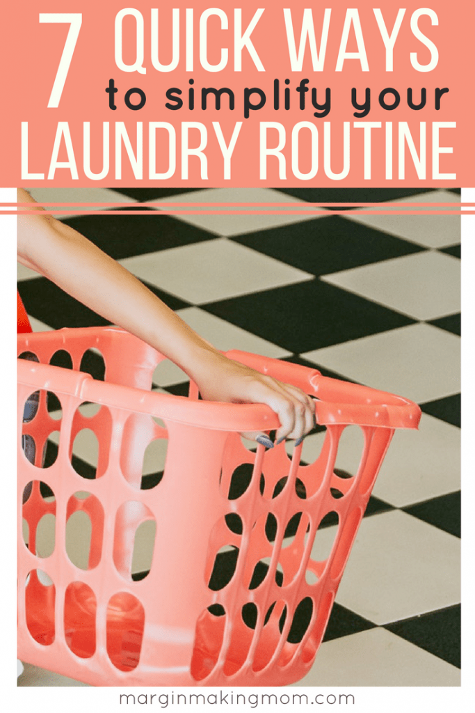 As a mom to three small kids, I've learned that laundry can quickly get out of hand if left unchecked. But laundry doesn't have to be overwhelming. These 7 tips will help you streamline the never-ending process of doing laundry so that you can simplify your laundry routine, too!