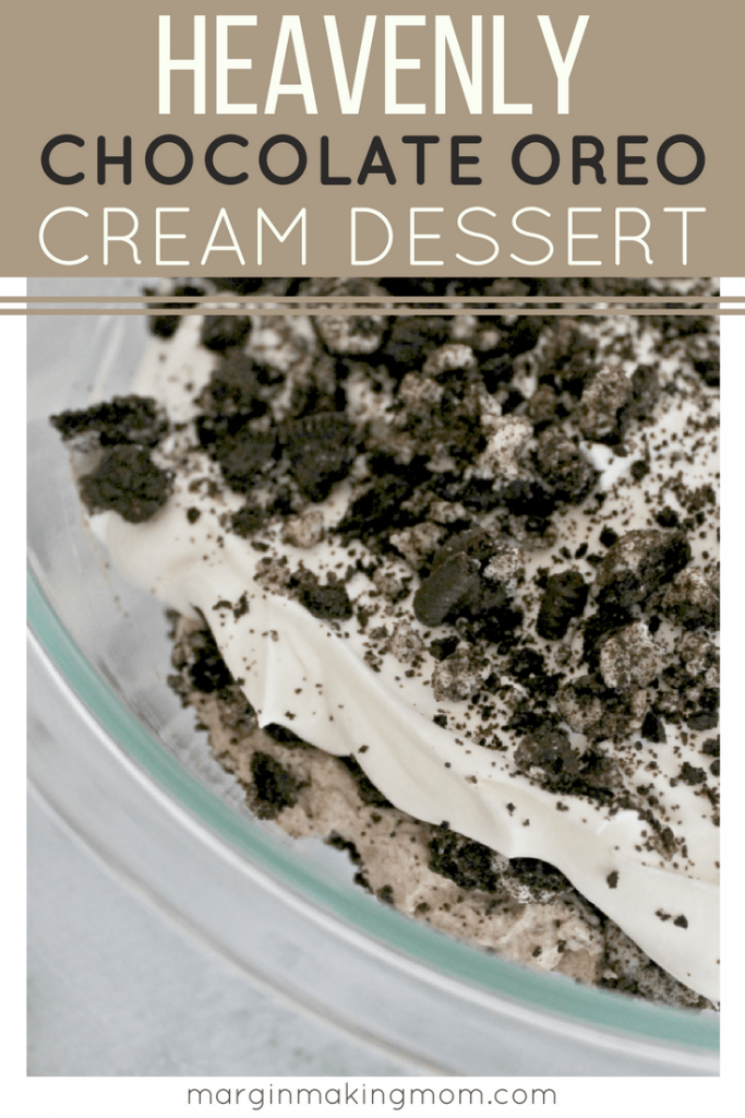 This chocolate Oreo cream dessert is absolutely heavenly! Layers of sweetened mascarpone cream are paired with chocolate mousse and crushed Oreos, resulting in a dreamy and decadent dessert that is impressive yet easy to make! Oreo Dessert | Creamy Oreo Dessert | Chocolate Mousse