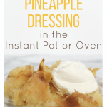 pineapple dressing on a china plate and topped with whipped cream