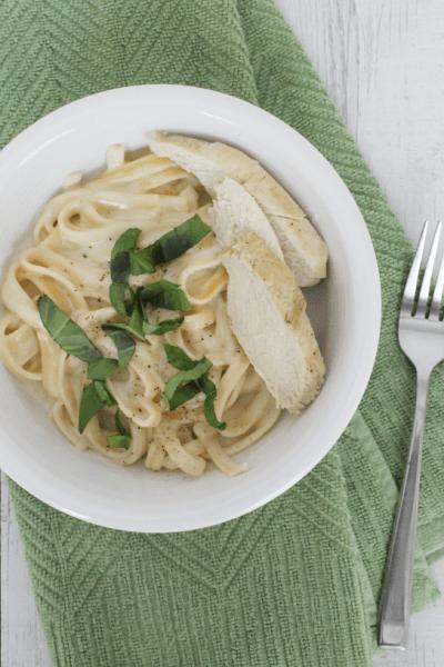 Pressure Cooker Chicken Fettucine Alfredo