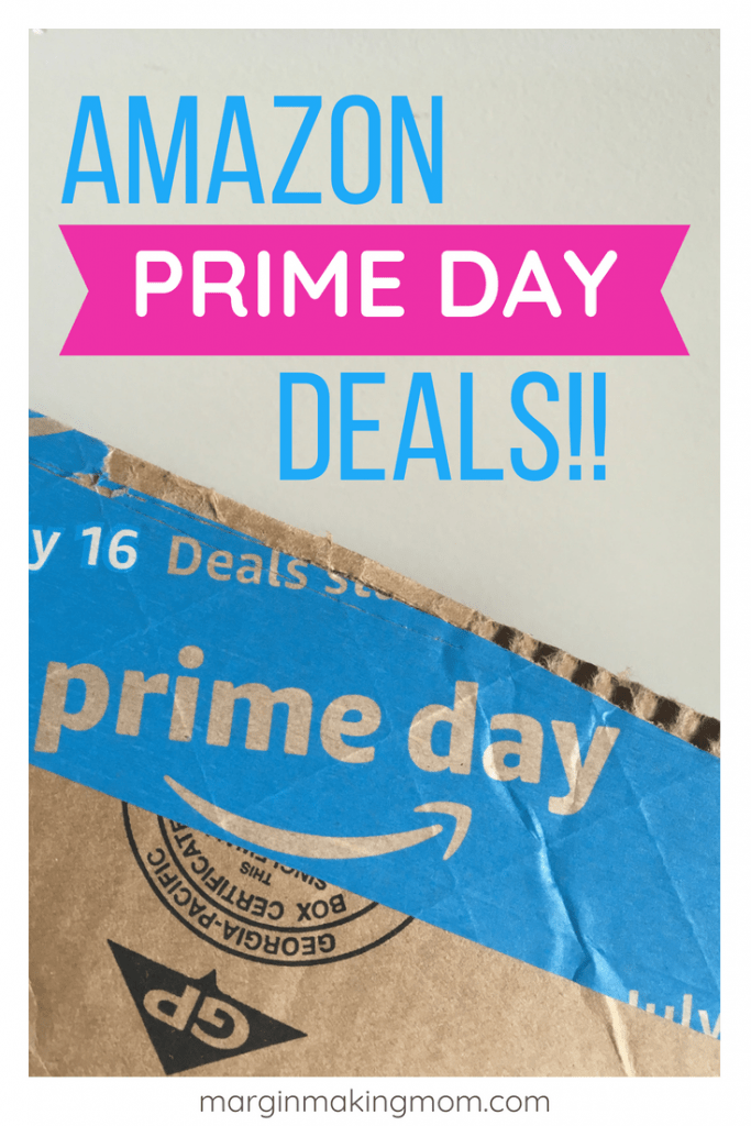 cardboard box with Amazon Prime Day tape on it