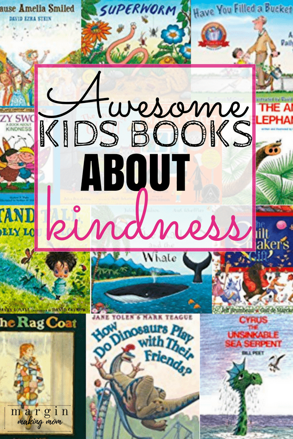 Collage of different covers of children's books about kindness