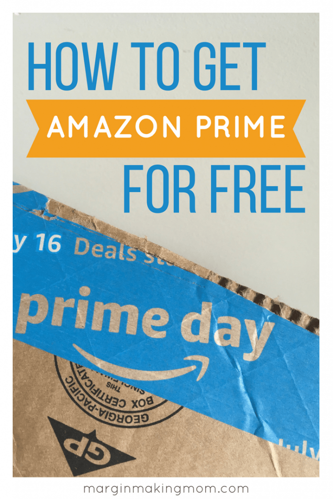 Amazon prime for free box