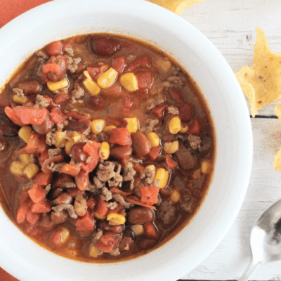 Taco Soup in the Pressure Cooker or Slow Cooker
