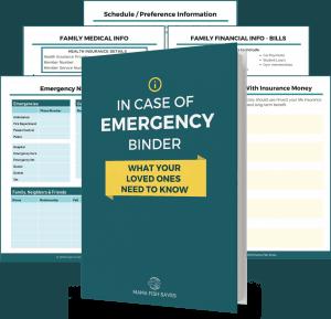 in case of emergency legacy binder