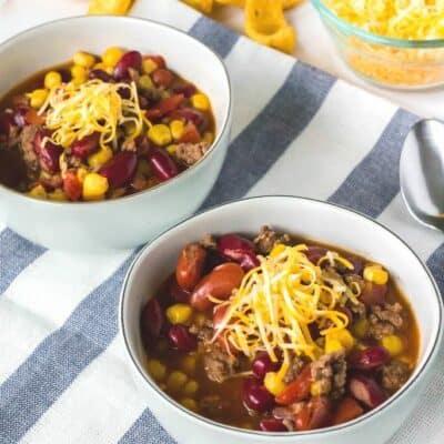 Super Easy Instant Pot Taco Soup