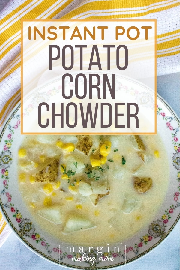 china bowl filled with corn and potato chowder