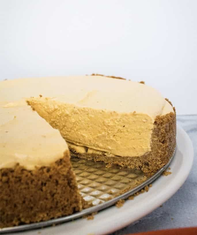 Easy, Incredible Frozen Pumpkin Cheesecake