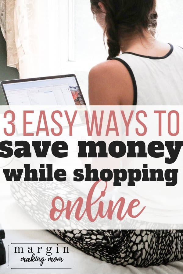 woman at computer, showing how to save money shopping online