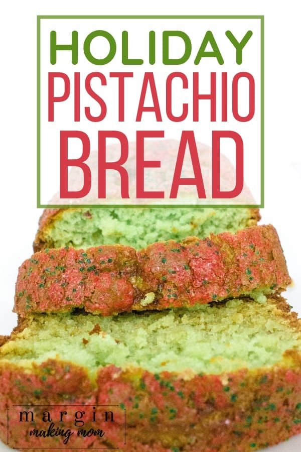 sliced pistachio bread